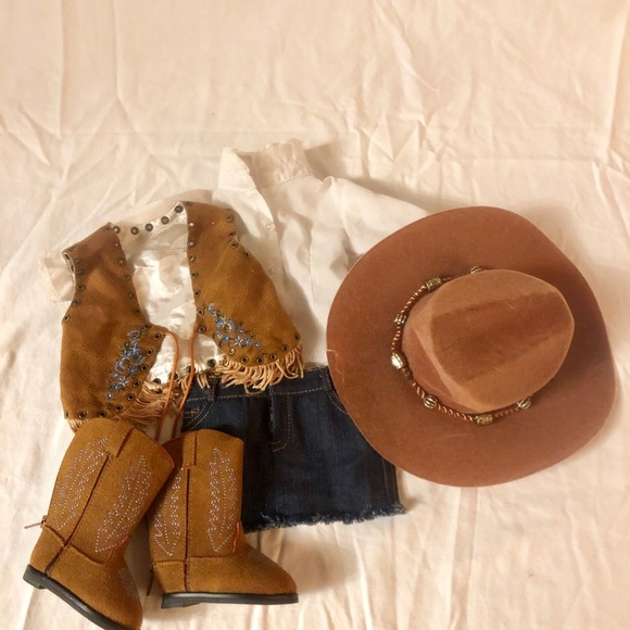 d1e4c536cec3a American girl doll sized cowgirl outfit